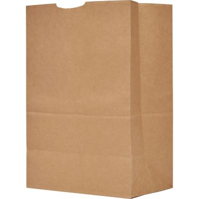 "AJM Packaging GS57NP5C Grocery Sacks, No. 57, 12"" x 17"" x 7"", Kraft - 500 / Case"
