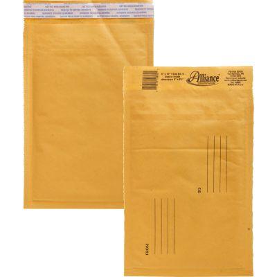 "Alliance 10802 Bubble Mailer Cushioned Envelopes, No. 0, 6"" x 10"", Kraft - 25 / Case"