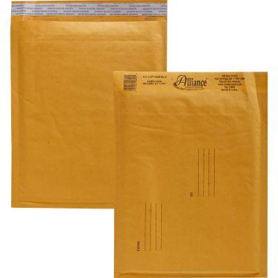 "Alliance 10804 Bubble Mailer Cushioned Envelopes, No. 2, 8-1/2"" x 12"", Kraft - 25 / Case"