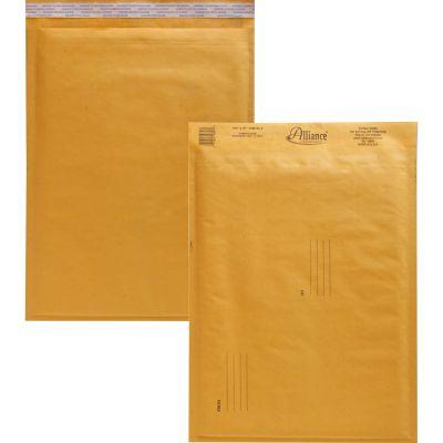 "Alliance 10807 Bubble Mailer Cushioned Envelopes, No. 5, 10-1/2"" x 16"", Kraft - 25 / Case"