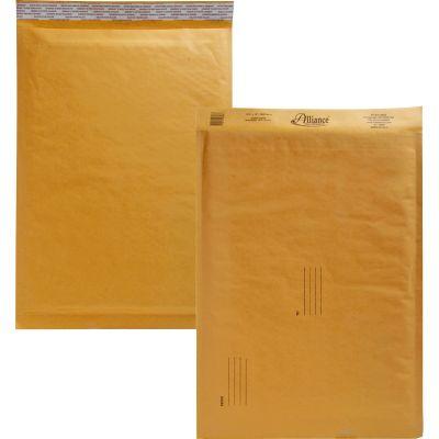 "Alliance 10808 Bubble Mailer Cushioned Envelopes, No. 6, 12-1/2"" x 19"", Kraft - 25 / Case"