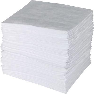 Alliance ENV100 Brady Sorbent Pads, 1 Ply, White - 100 / Case