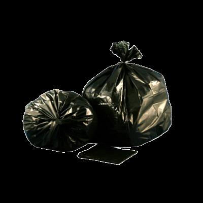 "Aluf Plastics CXP-4047X 45 Gallon Garbage Bags / Trash Can Liners, 40"" x 47"", 1.5 Mil EQ, Black - 100 / Case"