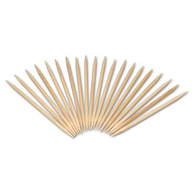 AmerCareRoyal R820 Birchwood Toothpicks, Round, Natural - 96,000 / Case