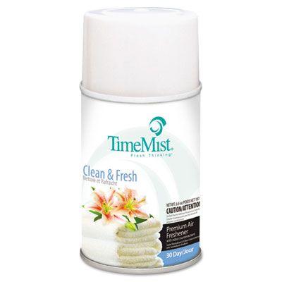 Zep 1042771 TimeMist Metered Aerosol Air Freshener Refill, Clean & Fresh Scent, 6.6 oz - 12 / Case