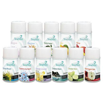 Zep 1043978 TimeMist Metered Aerosol Air Freshener Refills, Assorted Fragrances, 6.6 oz - 12 / Case