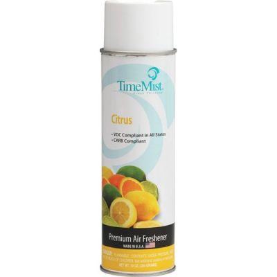 Zep 1045311 TimeMist Premium Hand-Held Air Freshener, Citrus Scent, 10 oz Aerosol Can - 12 / Case
