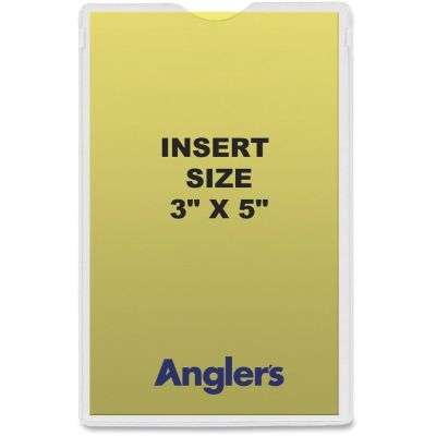 """Anglers 142050 Heavy Poly Envelopes, 3"""" x 5"""", Crystal Clear - 50 / Case"""