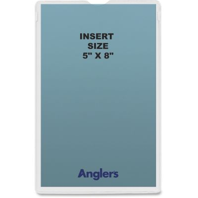 "Anglers 145250 Heavy Poly Envelopes, 5"" x 8"", Clear - 50 / Case"