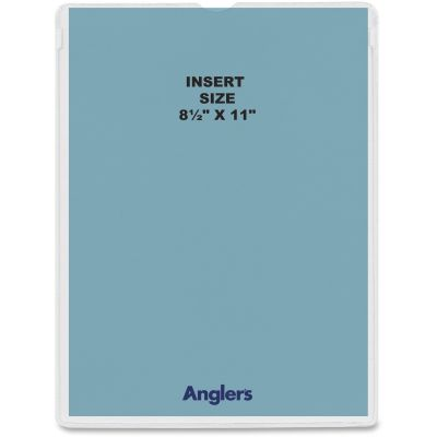 """Anglers 146450 Heavy Poly Envelopes, 8.5"""" x 11"""", Clear - 50 / Case"""
