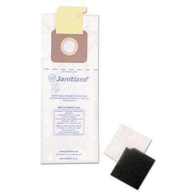 APC Filtration JANCMPRO2 Janitized Vacuum Filter Bags Designed to Fit Carpet Pro / CleanMax / Fuller / Tennant - 100 / Case