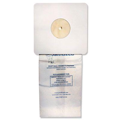 APC Filtration JANCXBP2 Janitized Vacuum Filter Bags Designed to Fit Nobles Portapac / Tennant - 100 / Case