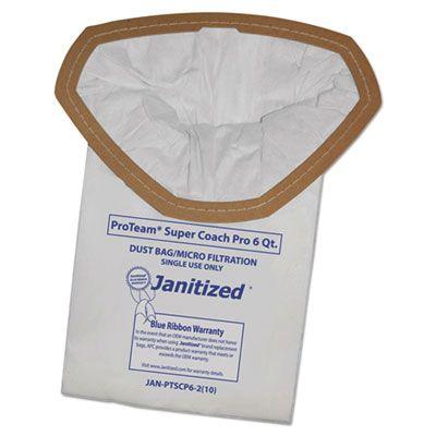 APC Filtration JANPTSCP62 Vacuum Filter Bags Designed to Fit Proteam Super Coach Pro 6 / Gofree Pro - 100 / Case