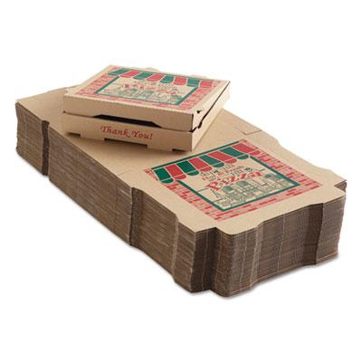 "Arvco 9124314 Corrugated Pizza Boxes, 12"" x 12"" x 1.75"", Kraft - 50 / Case"
