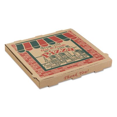 "Arvco 9144314 Corrugated Pizza Boxes, 14"" x 14"" x 1.74"", Kraft - 50 / Case"