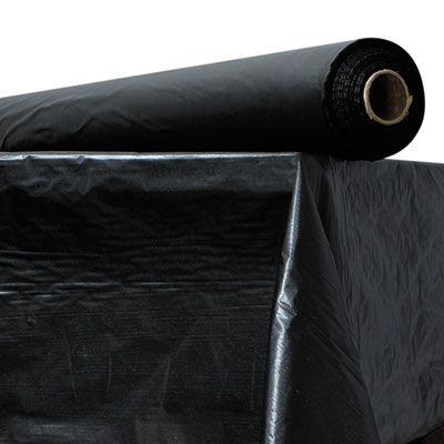 "Atlantis Plastics 2TCBK300 Plastic Table Cover Roll, 40"" x 300', Black, 1 / Case"
