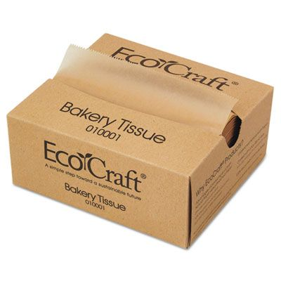 "Bagcraft 010001 Ecocraft Soy Wax Deli Sheets, Interfolded, 6"" x 10-3/4"", 10000 / Case"