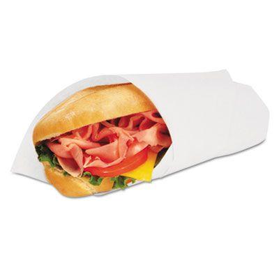 "Bagcraft 057014 Food Wrap / Liner Sheets, 14"" x 14"", White - 4000 / Case"