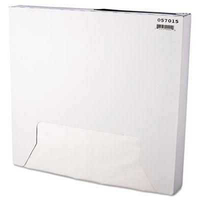 "Bagcraft 057015 Food Wrap / Liner Sheets, 15"" x 16"", White - 3000 / Case"
