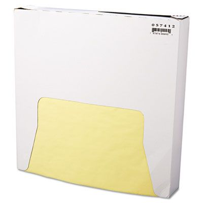 "Bagcraft 057412 Food Wrap / Liner Sheets, 12"" x 12"", Yellow - 5000 / Case"