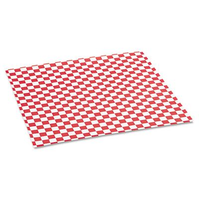"Bagcraft 057700 Food Wrap / Liner Sheets, 12"" x 12"", Red Checker - 5000 / Case"