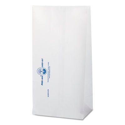 "Bagcraft 300298 Dubl Wax Bakery Bags, 6-1/8"" x 4"" x 12-3/8"", White - 1000 / Case"