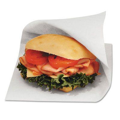 "Bagcraft 300421 Dubl Open Sandwich Bags, Grease Resistant Paper, 6"" x 3/4"" x 6-1/2"", White - 8000 / Case"