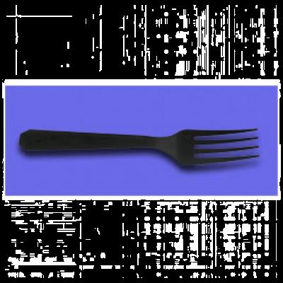 Berkley Square BSBK2005 Plastic Forks, Polystyrene, Black - 1000 / Case