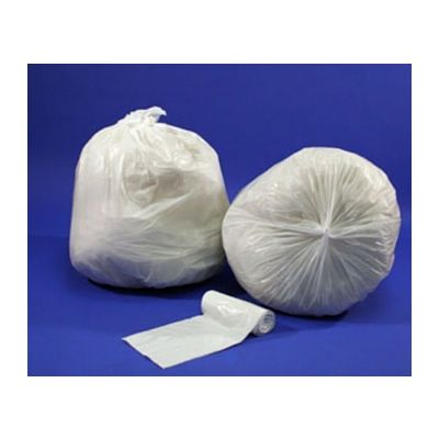 "Berry Plastics LSR4046XW 40-45 Gallon Garbage Bags / Trash Can Liners, 40"" x 46"", 0.74 Mil, White - 100 / Case"
