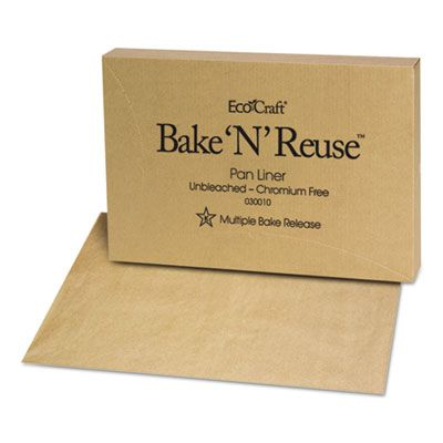 "Bagcraft 30010 EcoCraft Bake 'N' Reuse Pan Liner, 16-3/8"" x 24-3/8"", Brown - 1000 / Case"