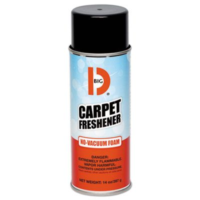 Big D 241 No-Vacuum Carpet Freshener, Foam, Fresh Scent, 14 oz Aerosol Can, 12 / Case
