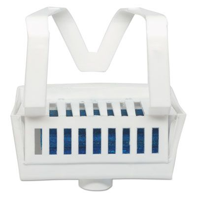Big D 661 Non-Para Toilet Bowl Block, Lasts 30 Days, White, Evergreen Fragrance, 12 / Case
