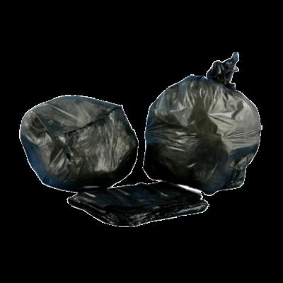 "Aluf Plastics HCR-386022B 55-60 Gallon Trash Can Liners / Garbage Bags, 38"" x 60"", 22 Mic, Black - 150 / Case"