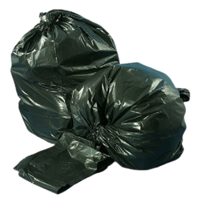 "Berry Plastics PGR4347X3B 56 Gallon Garbage Bags / Trash Can Liners, 42.5"" x 47"", 1.5 Mil, Black - 100 / Case"