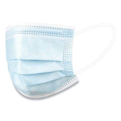 Disposable Face Masks, Blue / White - 50 / Case (WXDKZ0007)