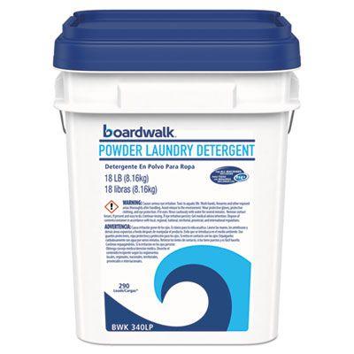 Boardwalk 340LP Powder Laundry Detergent, Crisp Clean Scent, 18 lb Pail - 1 / Case