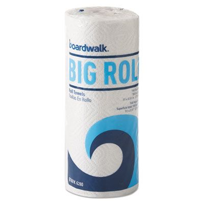 """Boardwalk 6280 Office Packs Perforated Paper Towel Roll, 2 Ply, 5.5"""" x 11"""", 140 Sheets / Roll, White - 12 / Case"""