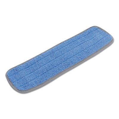 """Boardwalk MFM185BCFDZ Microfiber Dust Mop Heads, 18"""" x 5"""", Blue - 12 / Case"""