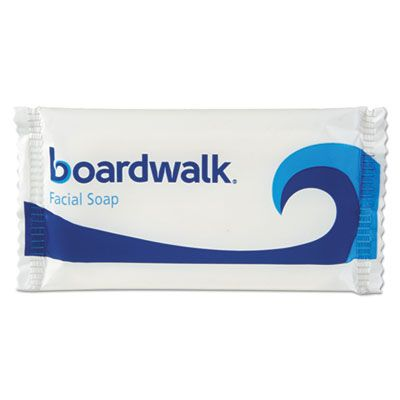 Boardwalk NO12SOAP Hotel Face and Body Soap, Flow Wrapped, Floral Scent, # 1/2 Bar - 1000 / Case