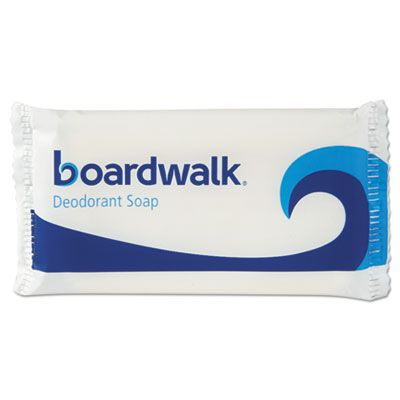 Boardwalk NO15SOAP Hotel Face and Body Soap, Flow Wrapped, Floral Scent, # 1 1/2 Bar - 500 / Case