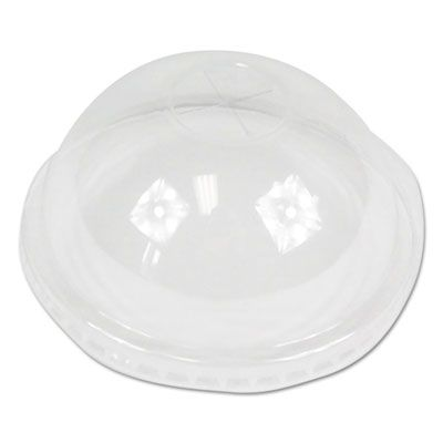 Boardwalk PETDOME Dome Lids for 16-24 oz Plastic Cold Cups, PET, Clear - 2500 / Case