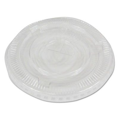 Boardwalk PETSTRAW Straw Slot Lids for 16-24 oz Plastic Cold Cups, Clear - 2500 / Case