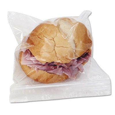 Boardwalk SANDWICHBAG Zipper Sandwich Bags, Clear - 500 / Case