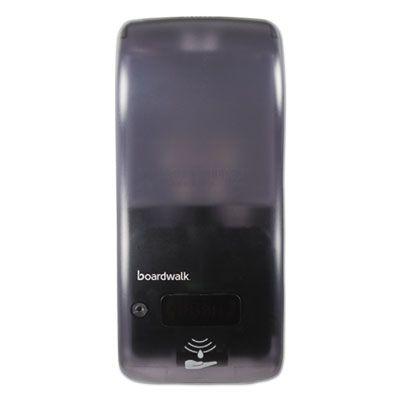 Boardwalk SH900SBBW Hybrid Liquid Soap or Hand Sanitizer Dispenser, Bulk Fill 900 ml, Black - 1 / Case