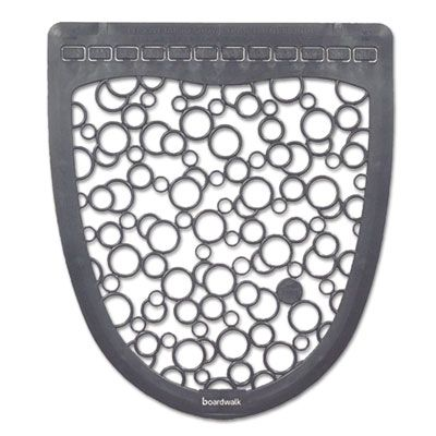 "Boardwalk UMGW Urinal Mats 2.0, Rubber, 17.5"" x 20"", Gray / White - 6 / Case"