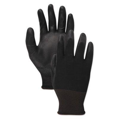 Boardwalk 289 PU Palm Coated Gloves, Size 9 (Large), Black - 1 Dozen