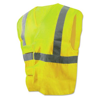 Boardwalk 36 Class 2 Safety Vest, Standard Size, Lime Green / Silver - 1 / Case