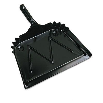 Boardwalk 4212 Metal Dust Pans, Black - 12 / Case