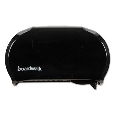 Boardwalk 1502 Standard Twin Toilet Paper Roll Dispenser, Black - 1 / Case