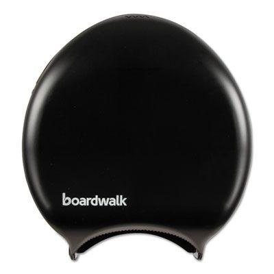 """Boardwalk 1519 9"""" Jumbo Roll Toilet Paper Dispenser, Black - 1 / Case"""